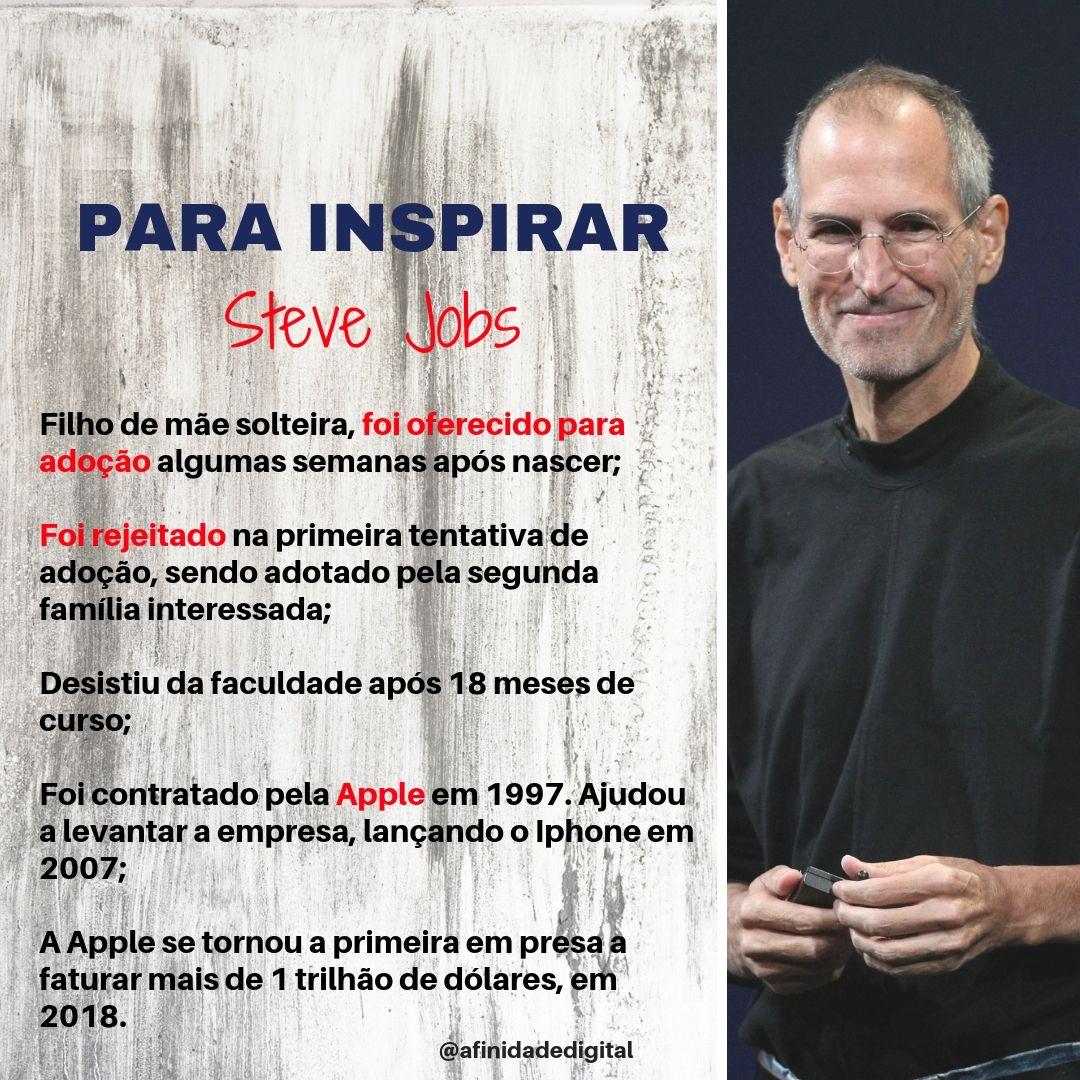 Histórias Para Inspirar Todo Mundo Conhece Steve Jobs