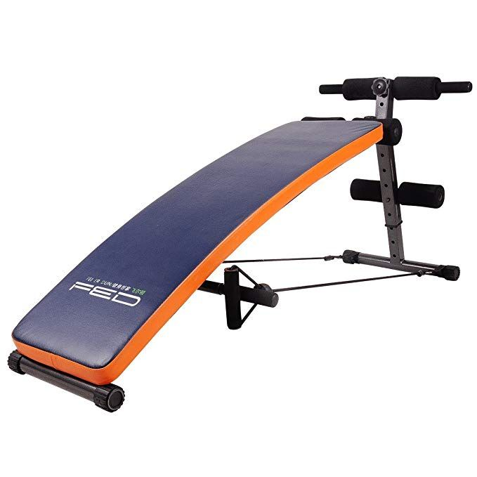 Feierdun Sit Up Ab Bench Incline Decline Adjustable Workout Sit Up Bench With Replaceable Leather Cover Sl No Equipment Workout Bench Ab Workout Weight Benches