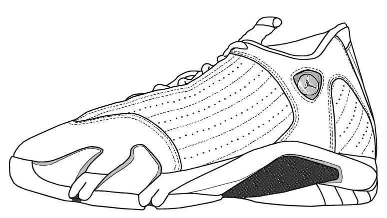 jordan 11 coloring page - air jordan xiv mid with carbon fiber kicks