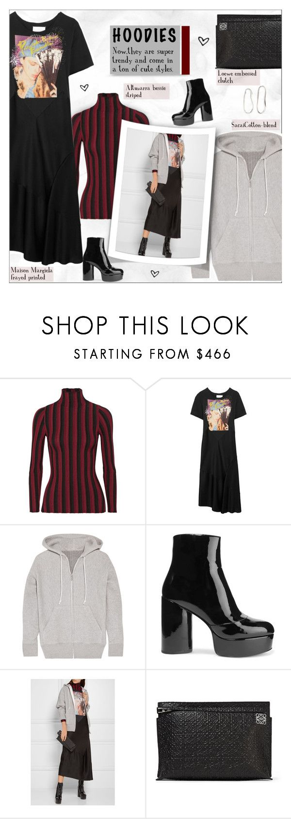 """""""Heads Up! Cute Hoodies!"""" by alves-nogueira ❤ liked on Polyvore featuring Altuzarra, Maison Margiela, Sacai, Marc Jacobs, Loewe and Sophie Buhai"""