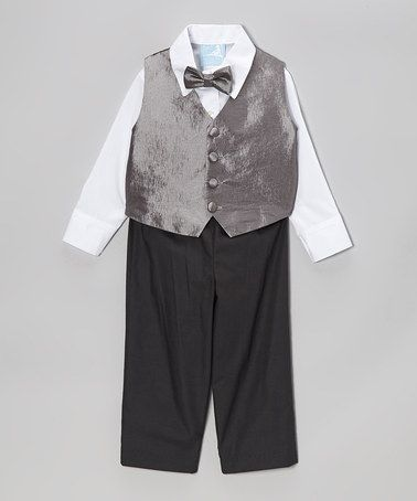 Take a look at this Gray & Black Pants Set - Toddler & Boys by Pippa & Minnow on #zulily today!
