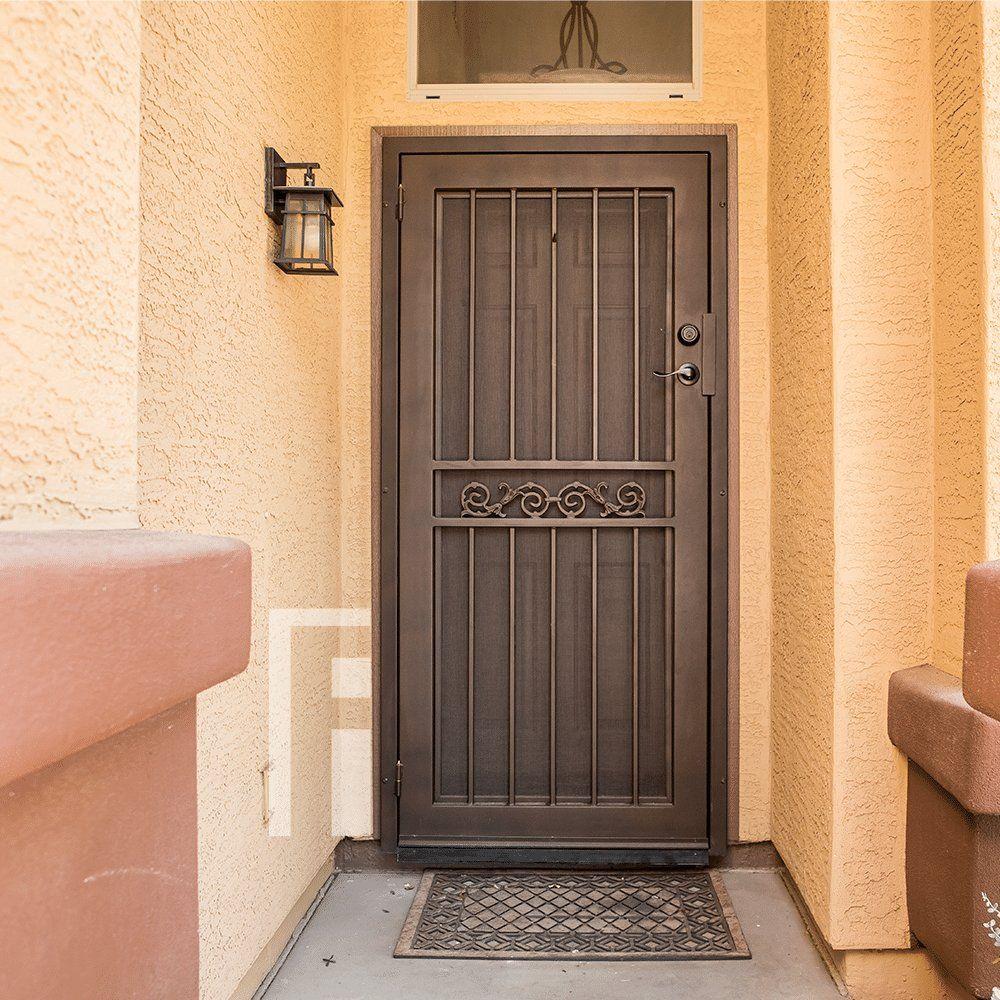 Bird Of Paradise Iron Security Door In 2020 Security Door Iron Doors Steel Security Doors