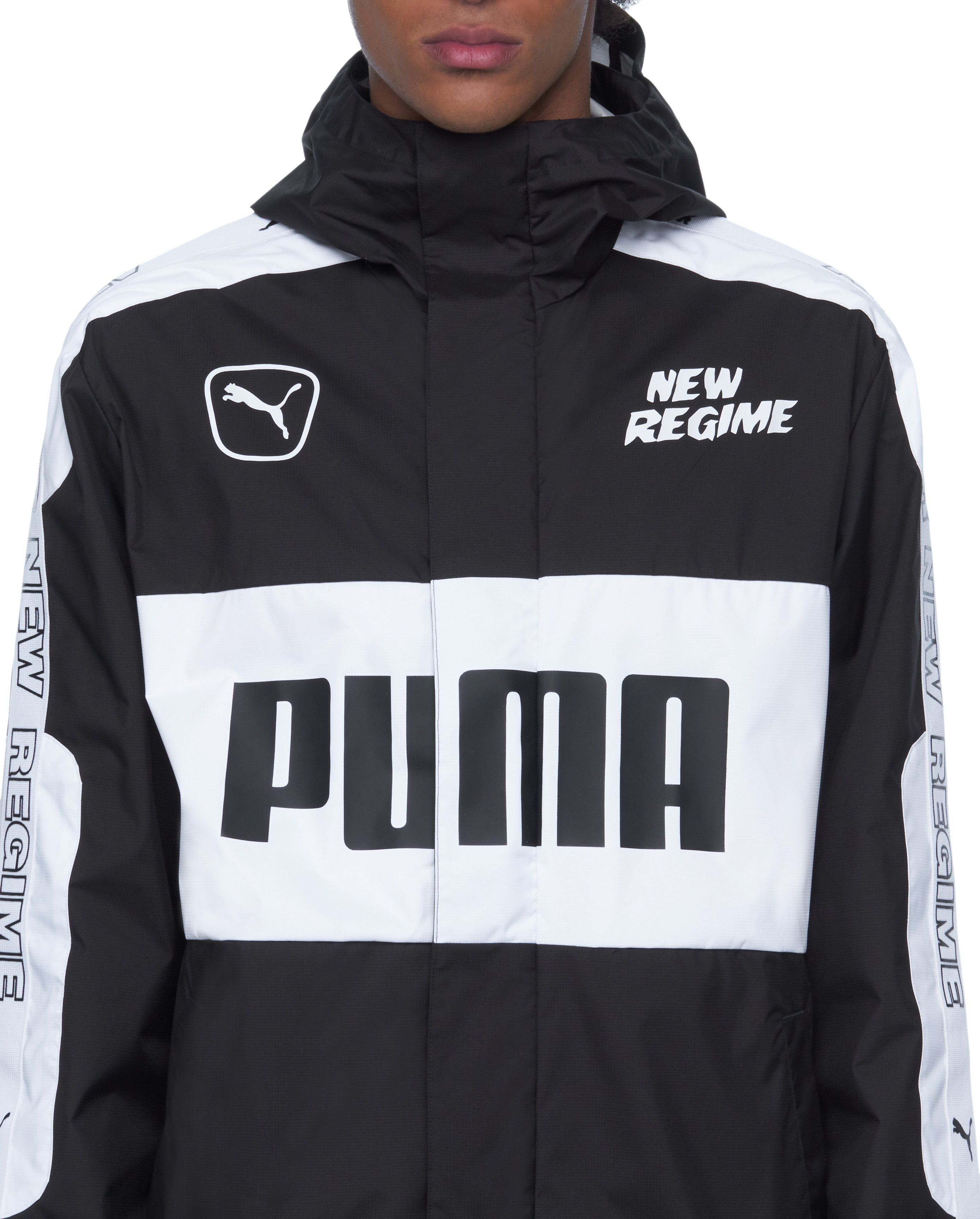 374de250168b1 Puma x ANR Jacket / Made of a water-repellant shell, this PUMA x ANR  lightweight windbreaker jacket features motorsport-inspired oversized  printed logos and ...