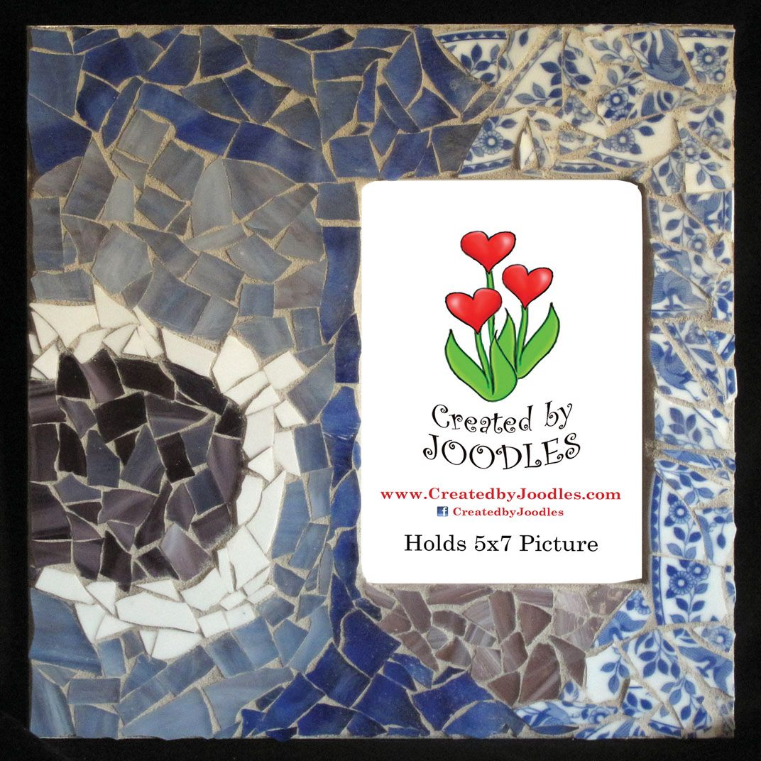 Blue moon mosaic pictures picture frames mosaic