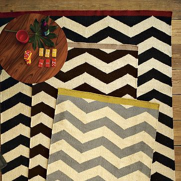 You've got to love it when you're absorbing all the details in the beautiful pics of your favorite decorating magazine and then you open an email from West Elm and find the EXACT rug you just fell in love with!  Zigzag Rug #WilliamsSonoma