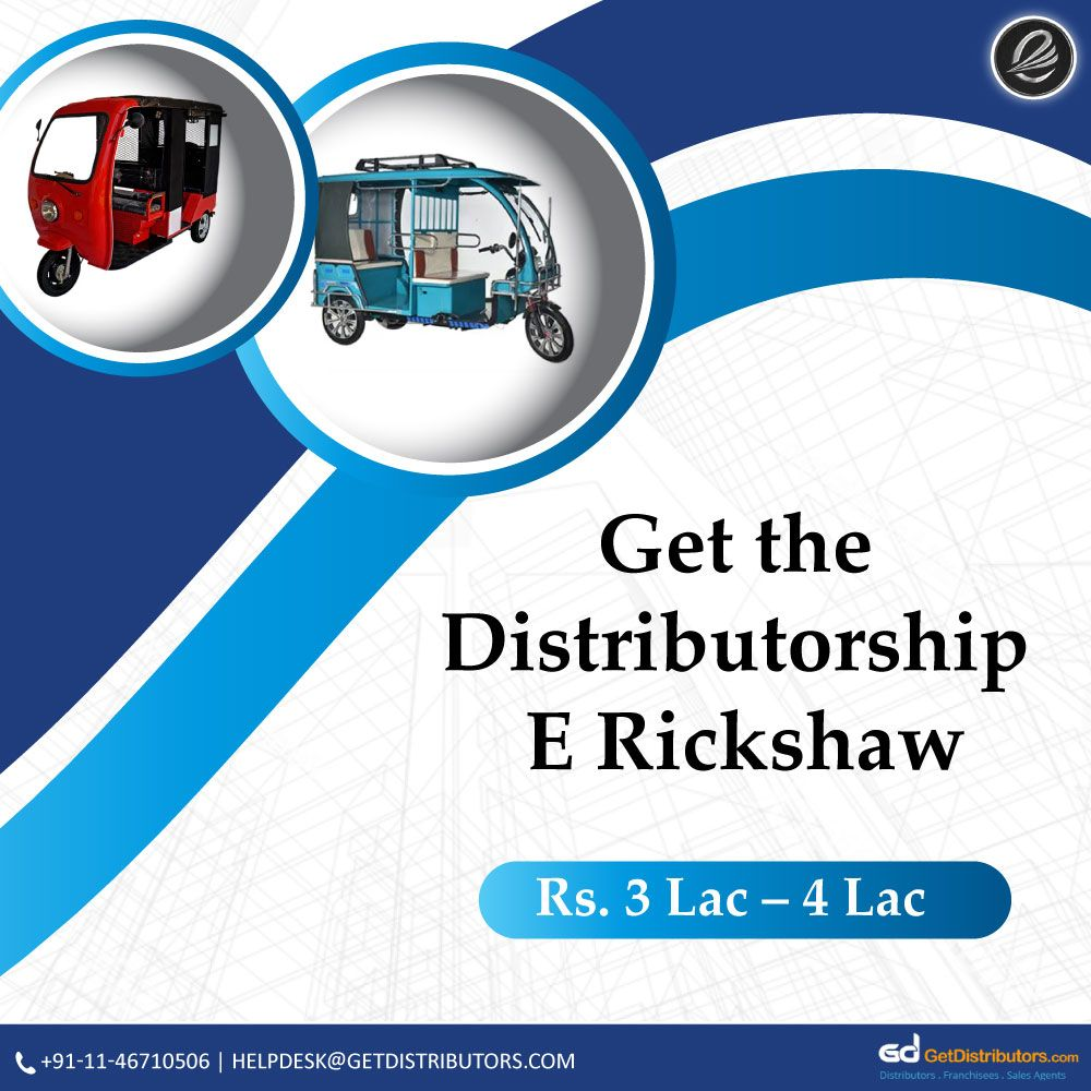 Looking distributors of robust design E Rickshaw