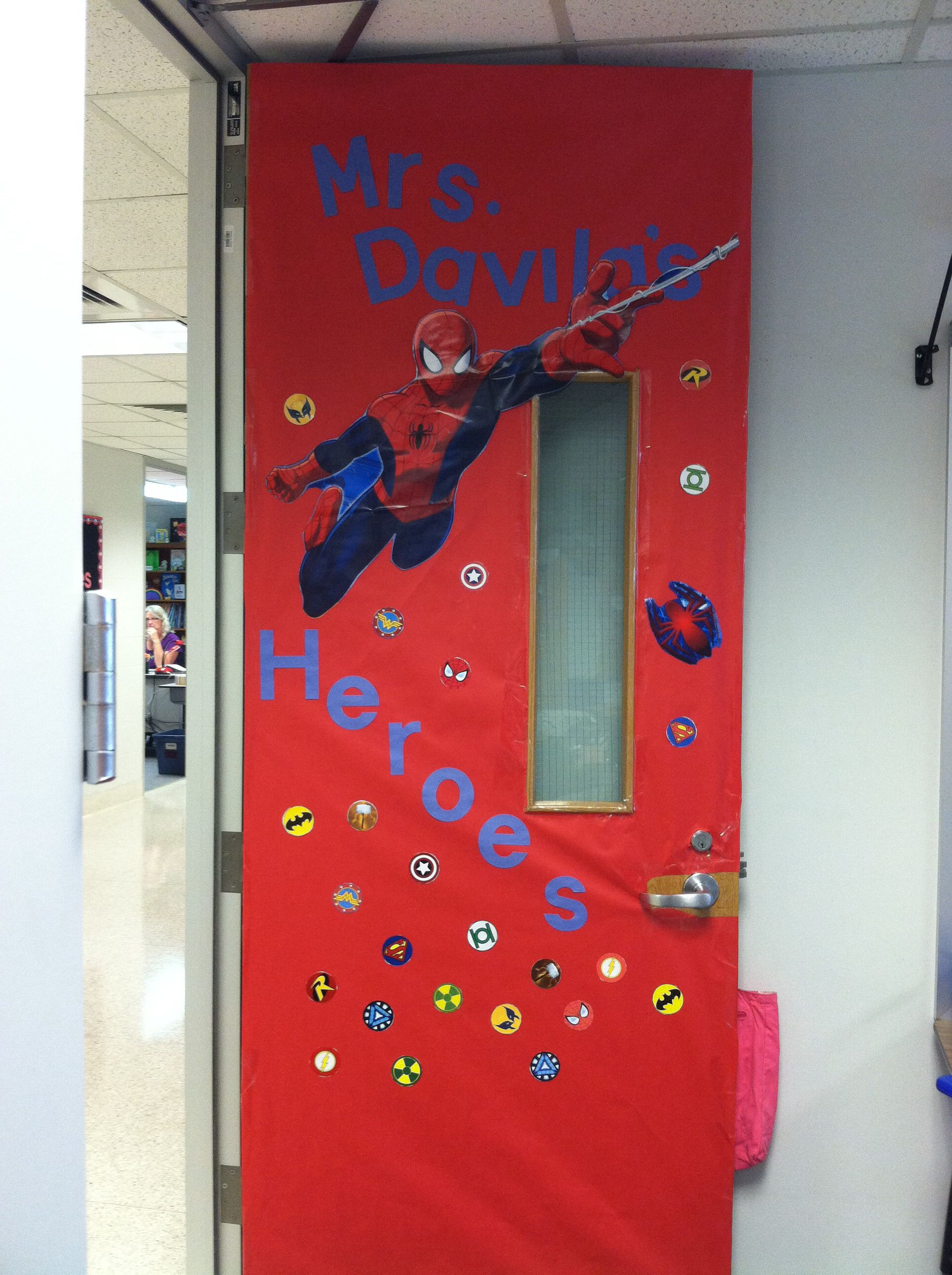 Spider Man Classroom Door