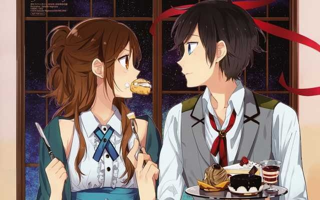 Happy Couple while eating