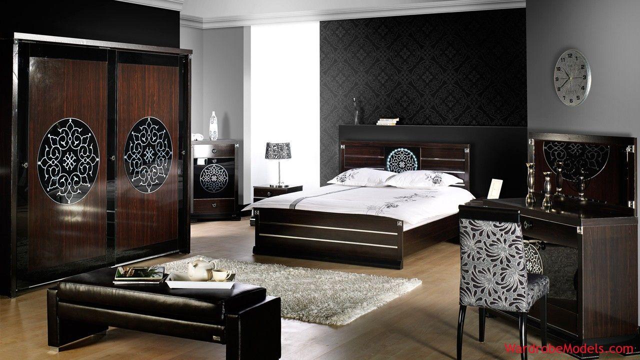 Grey decorative bedroom wardrobe models wardrobe models