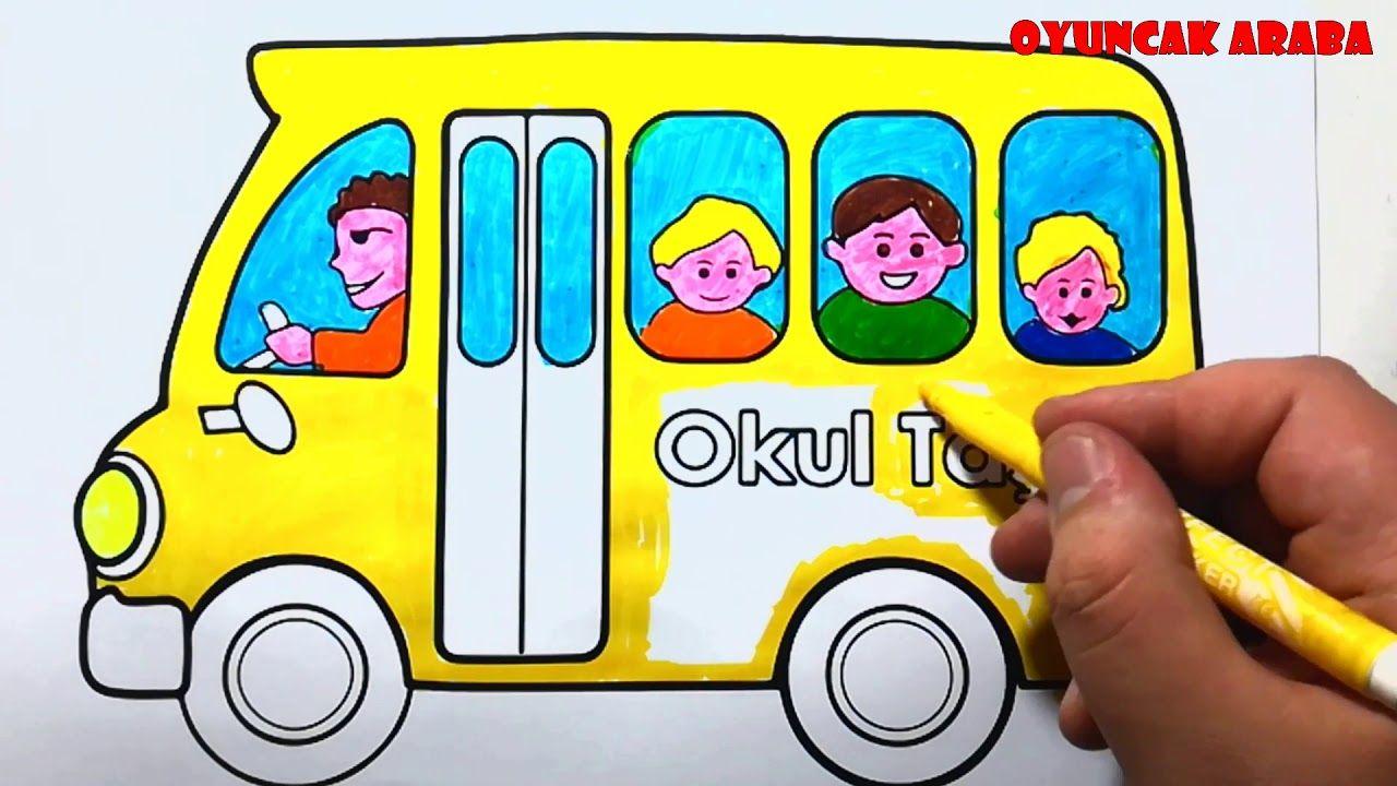 Okul Otobusu Boyama Sayfasi Cocuklar Icin Eglenceli Boyama