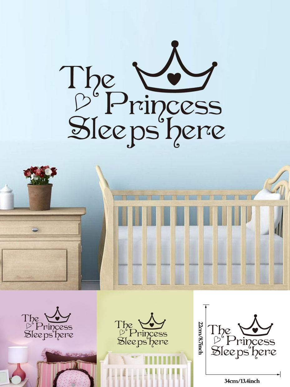 Visit to buy dctop the princess sleep here wall stickers for kids