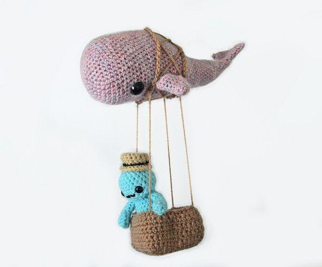 Crochet Flying Whale