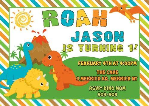 Cool FREE Template Free Printable Dinosaur Birthday Invitations