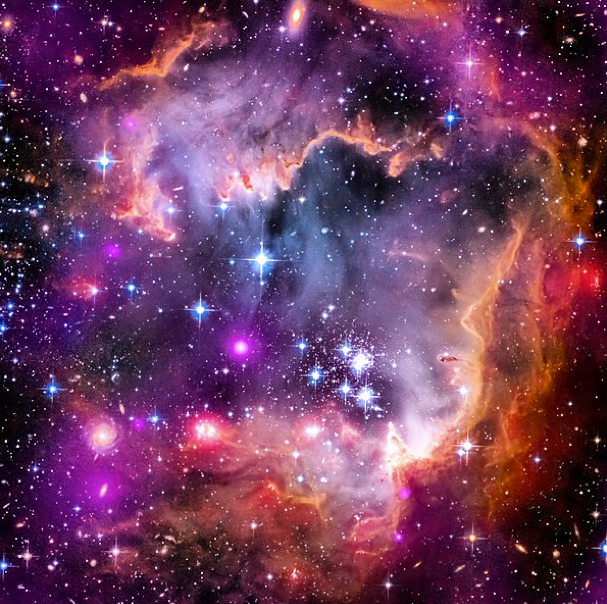 The small Magellanic Cloud is a galaxy about 200,000 light-years away that orbits our very own Milky Way spiral galaxy. (Photo Credit: NASA)