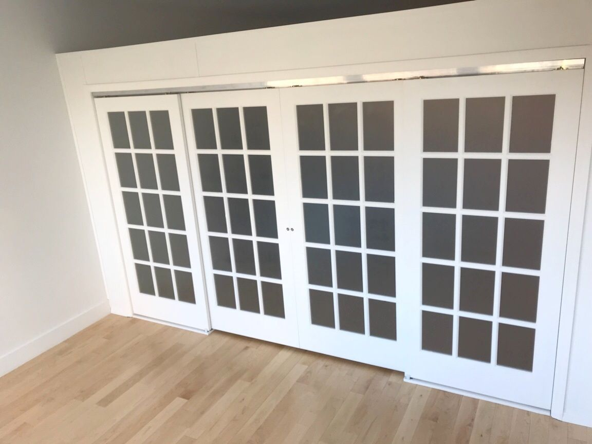 Sliding French Door Wall Call Us For All Your Custom Room Partition And Storage Inquiries 646 837 7300 Sliding French Doors Temporary Wall Home
