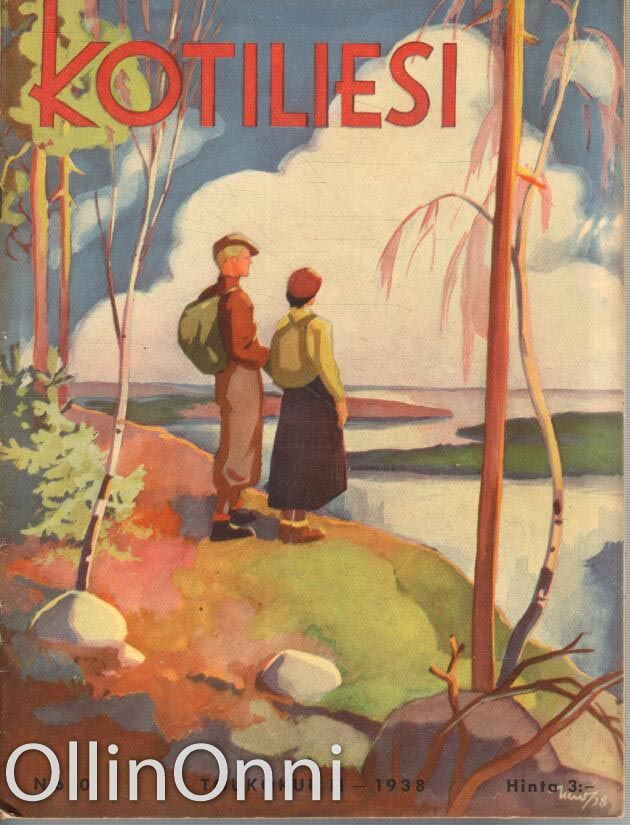 Kotiliesi 10/1938   Kansi Martta Wendelin.