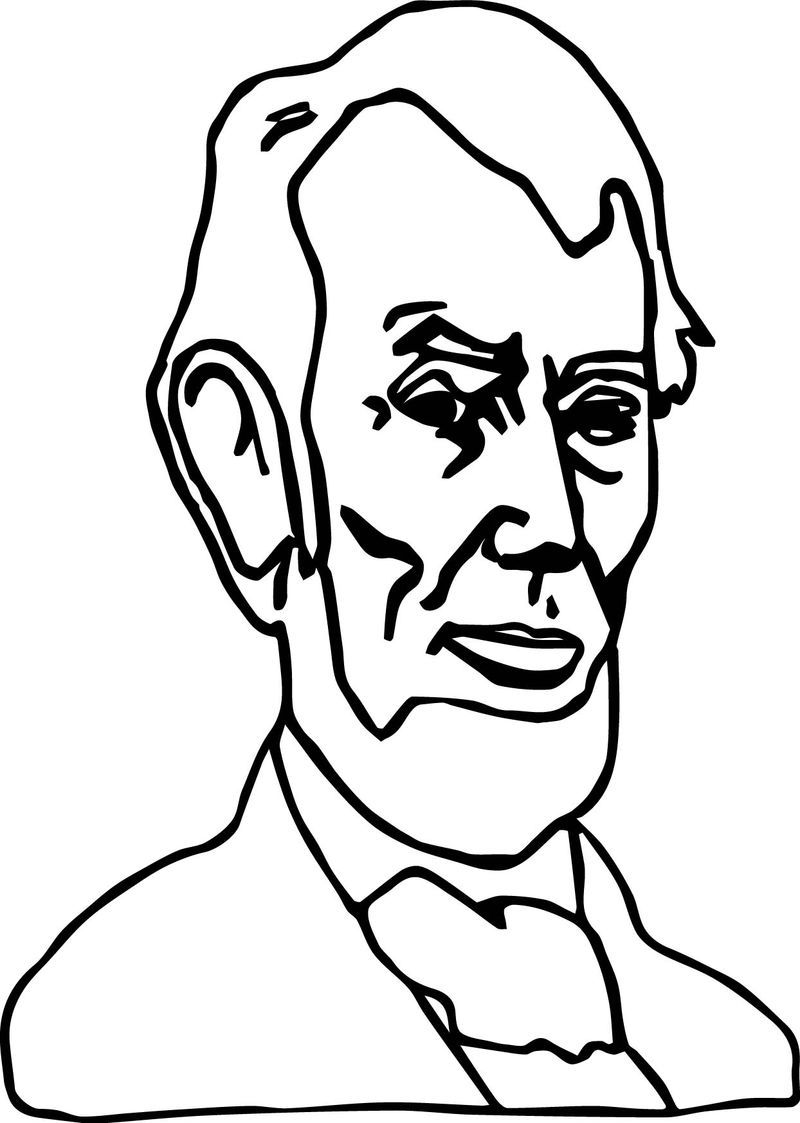 Just Abraham Lincoln President Coloring Page Coloring Pages Color Worksheets Abraham Lincoln Images