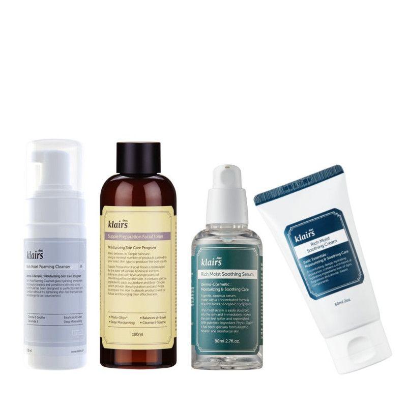 KLAIRS 4-Set trockene/normale Haut Mit dem KLAIRS 4-Set trockene Haut bist du auf der sicheren Seite im Bezug auf Pflege und Feuchigkeitsversorgung der Haut und kannst dabei auch noch richtig Geld sparen. Bei LoveMyCosmetic Klairs und andere koreanische Kosmetik Marken...
