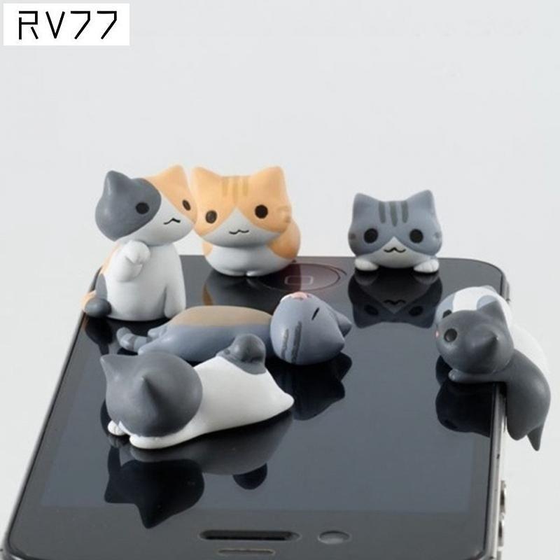 3.5mm telefono mobile trasduttore auricolare jack carino modello del gatto del fumetto spina antipolvere per il iphone per android smart phone