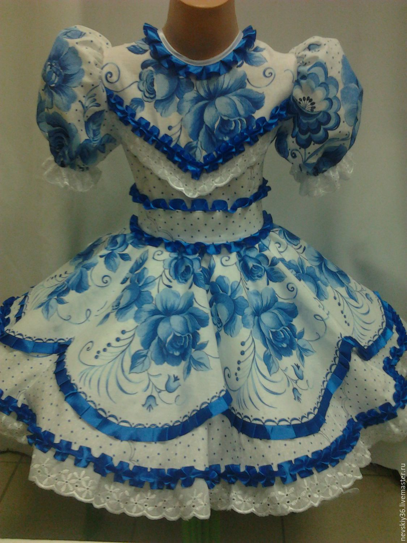 2271c028958 платье Гжель 02 – купить или заказать в интернет-магазине на Ярмарке  Мастеров