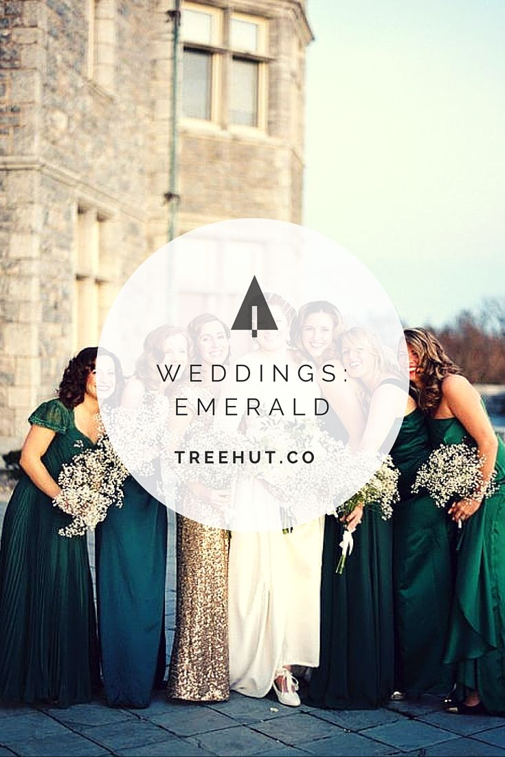 Emerald green weddings - whether accented with gold or gray - are ...