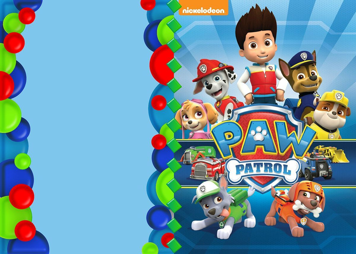 Paw Patrol Invitation Template Deco Paw Patrol Pinterest Paw - Paw patrol invitation template