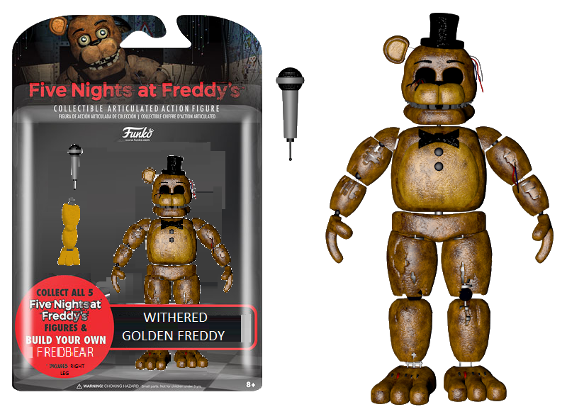 Withered Golden Freddy Funko Fan-Made By -7150