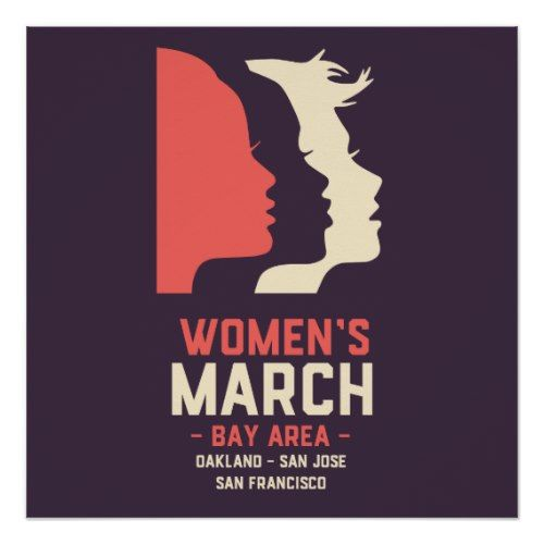 Women's March Bay Area Purple Semi-Gloss Poster #CustomGifts