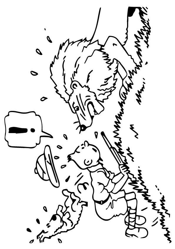 10 Cute Tintin Coloring Pages For Your Toddler Tintin Et Milou