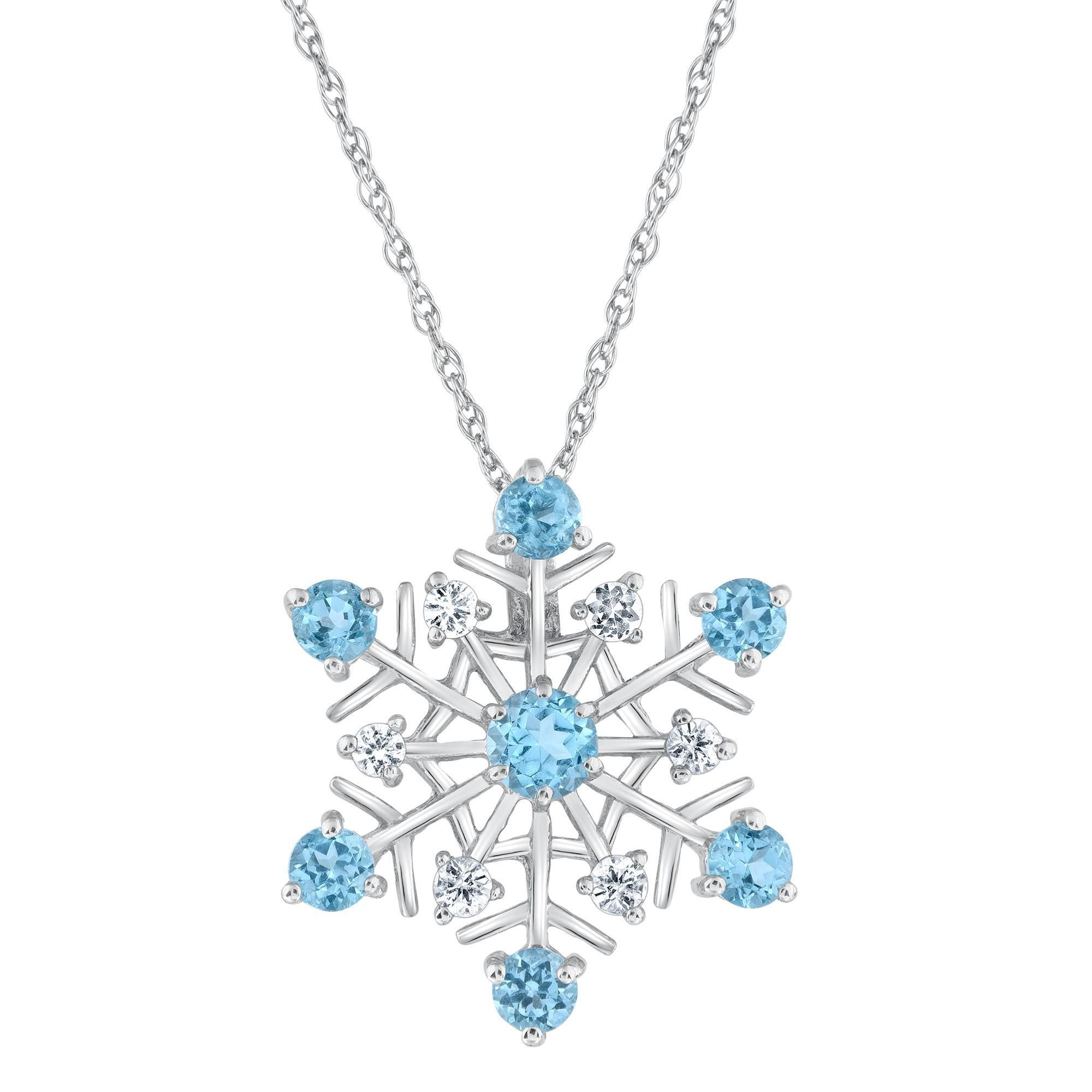 snowflake necklace pendant barzel product elements swarovski