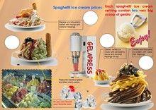 Spaghetti ice cream, accessories for ice cream and gelato sale, ice cream noodle machine, shock freezer, blast freezer, spaghetti ice cream machine