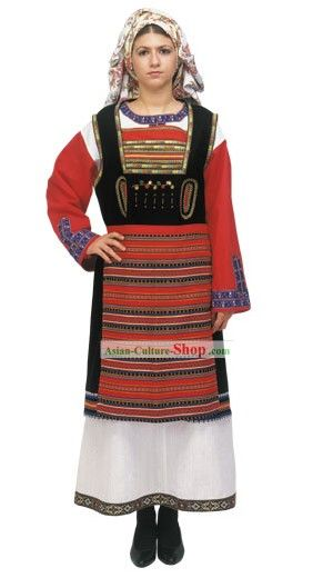 002 traje popular griego Trajes Tipicos Pinterest