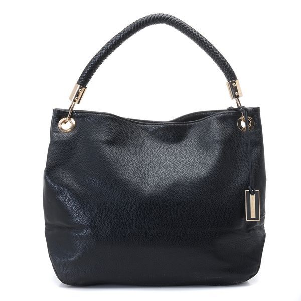 Michael Kors Skorpios Large Shoulder Bag Black Leather ...