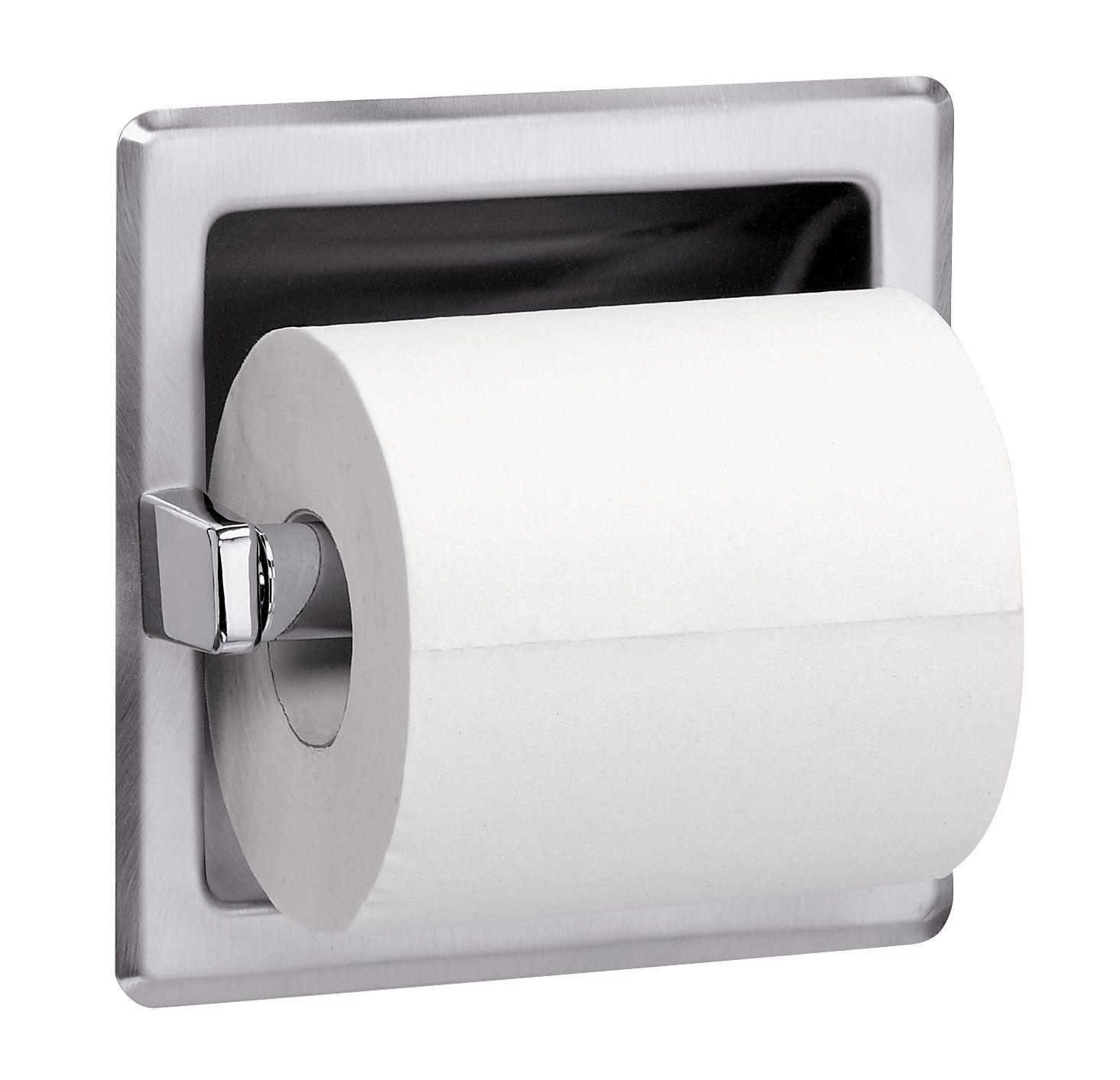 toilet tissue dispenser / toilet paper dispenser *Put the new roll of toilet  paper on