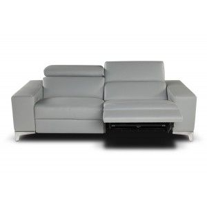 Nicoletti Queen Sofa With Two Electric Recliners Modern