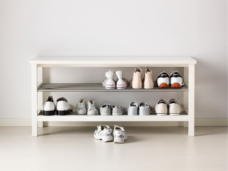 Minimalist shoe storage bench ikea diy wood entry Storage bench ikea