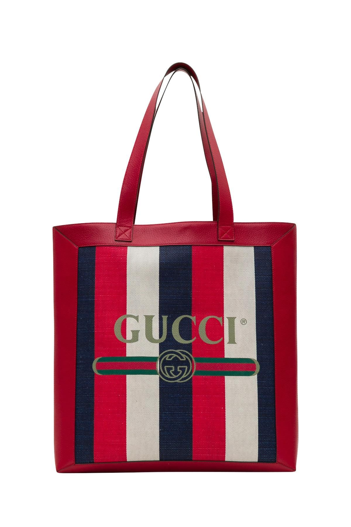 0bf429f5571f GUCCI PRINT TOTE.  gucci  bags  canvas  tote  leather  lining  linen  hand  bags  cotton