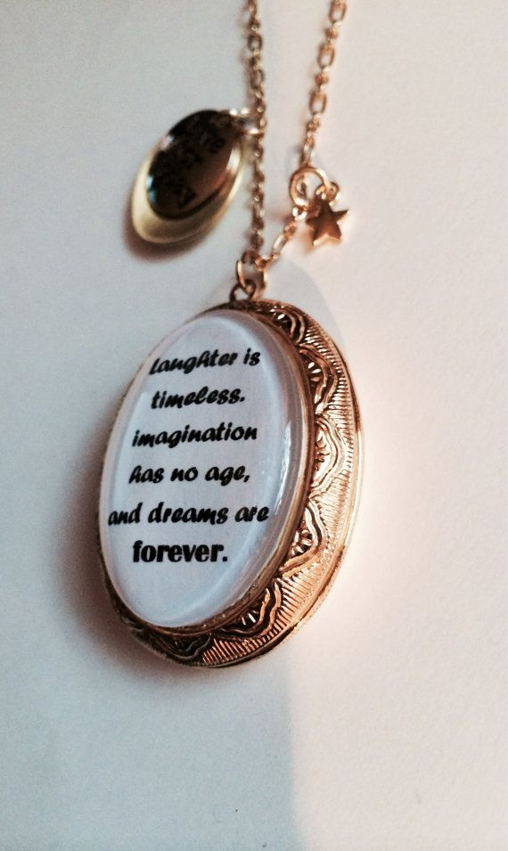 Walt Disney Quote Locket Necklace By Endlesssouldesigns On Etsy