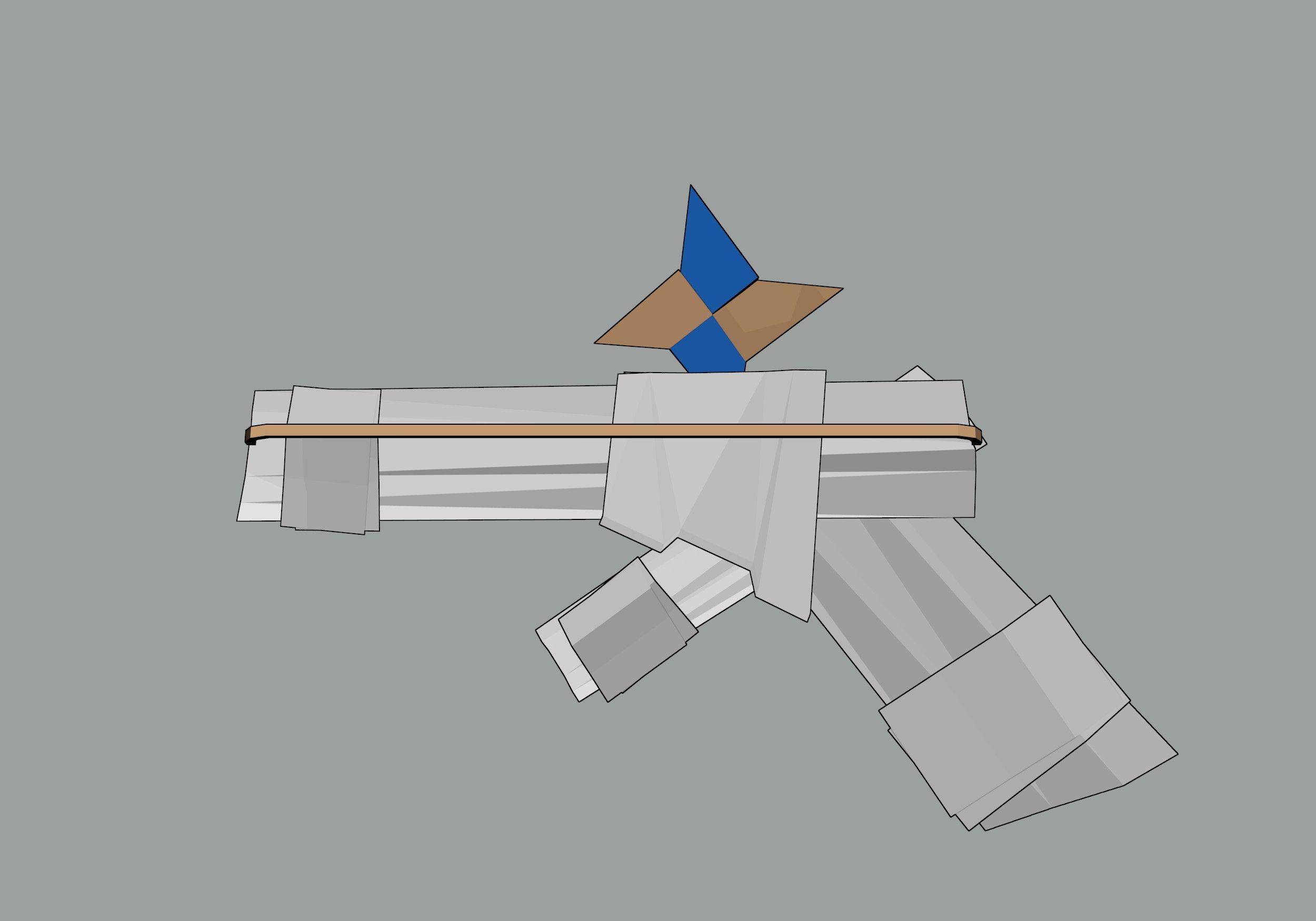 make a paper gun that shoots ninja star guns and origami