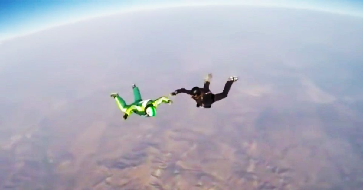 The Physics Behind A Madman S Parachute Free Skydive Into A Giant Net Physics Physics Projects Physics Questions