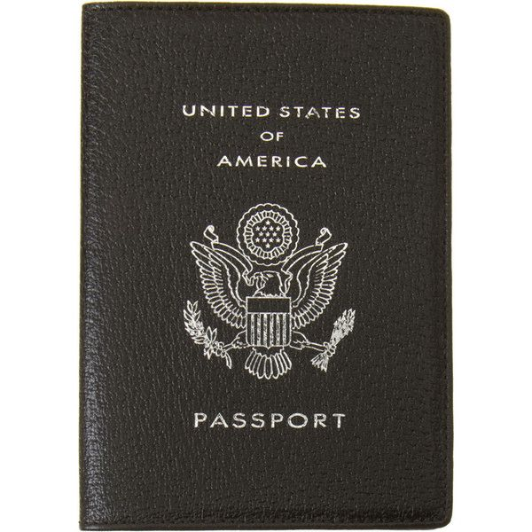 Smythson USA Passport Cover (2 960 UAH) Liked On Polyvore