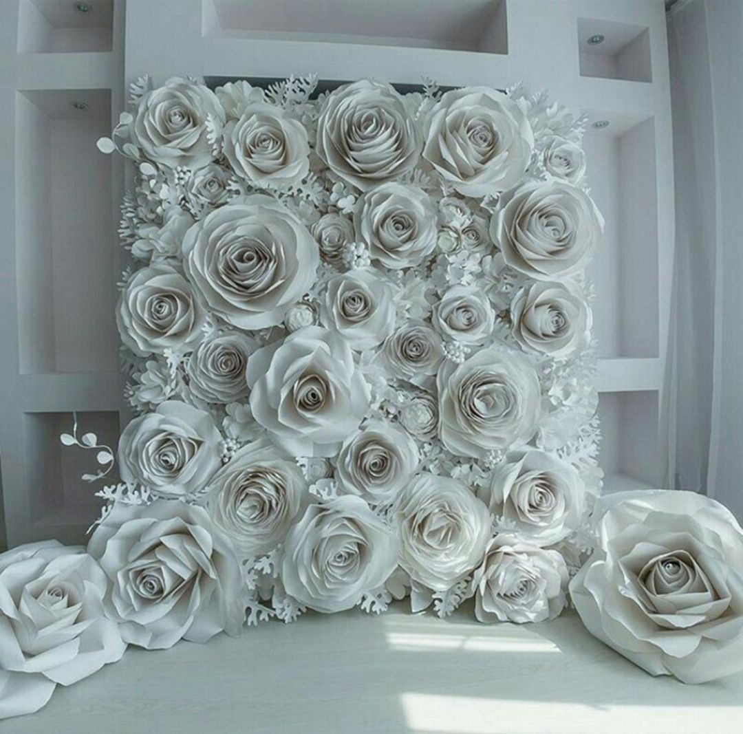 Beautiful paper flower backdrop wedding ideas 10 pictures