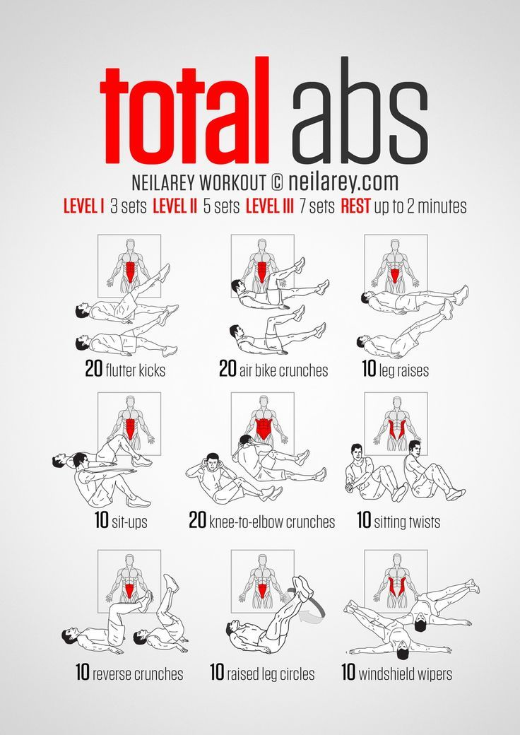 10 Free Printable Workouts to Get Fit Anywhere | ABS | Total ...