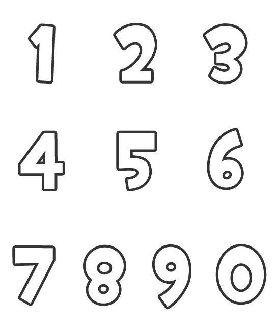 Image result for free numbers to print numbers Pinterest - numbers templates free