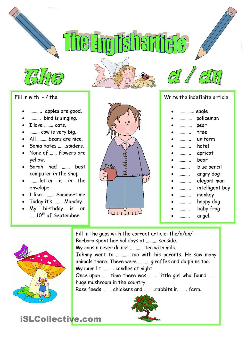 Worksheet Article A And An Worksheets 1000 images about articles gor on pinterest english grammar lessons and good grammar