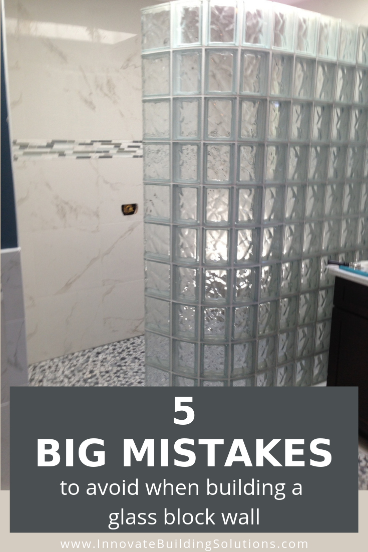 5 Mistakes To Avoid Like The Plague Building A Glass Block Shower Wall Glass Block Shower Wall Glass Blocks Wall Glass Block Shower