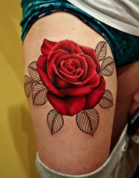 Tattoo Red Rose Flower