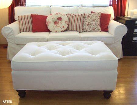 Reupholster an ottoman | Reupholstering | Pinterest | Otomanas