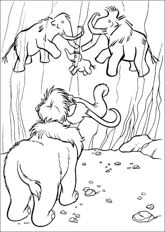 Kleurplaten Disney On Ice.Ice Age Kleurplaten 8 Inkleur Coloring For Kids Coloring Pages