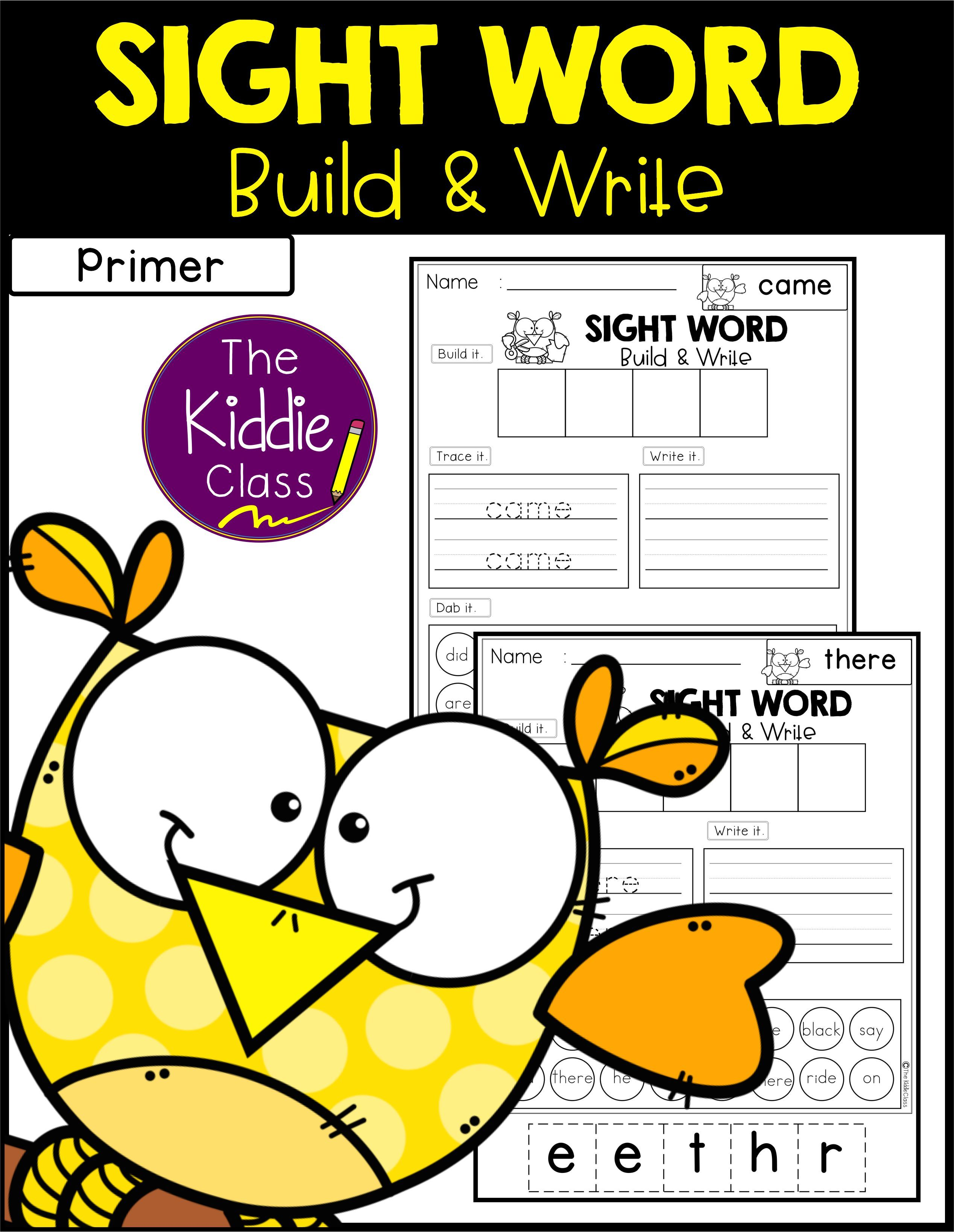 Sight Word Build And Write Primer